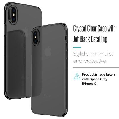 Ultra Slim Shockproof Silicone Clear Cover Case for iPhone XR XS MAX X 8 7 6s 6 11