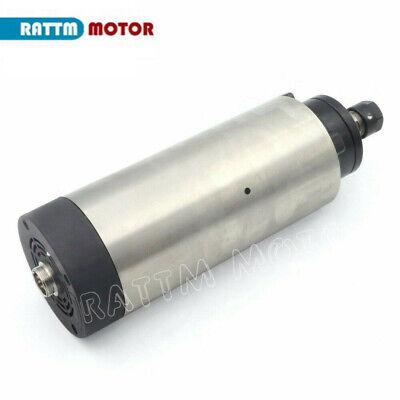 〖FR〗1.5KW Air cooled Spindle Motor ER16 220V& 1.5KW Inverter VFD& 80mm Clamp CNC 4