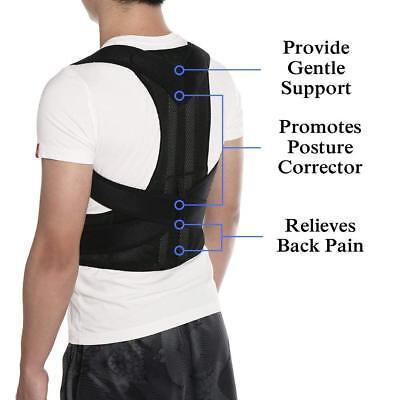 Posture Corrector Brace Women Men Full Back Support Clavicle Shoulder Belt Body 9