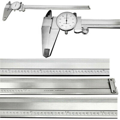 """6 Inch Stainless 4 Way Dial Caliper .001"""" Shock Proof Caliper 2"""