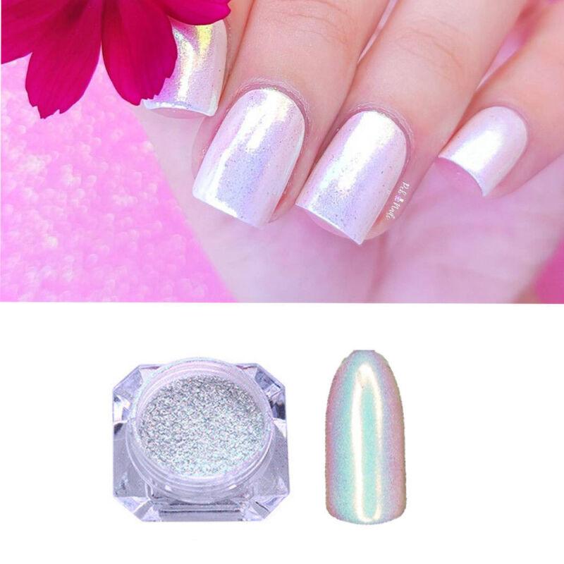 Color-Change Neon Aurora Mermaid Nail Art Glitter Powder Mirror Chrome Pigment 12