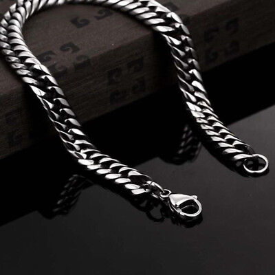 Silver Men's Stainless Steel Chain Link Bracelet Wristband Bangle Jewelry Punk 5