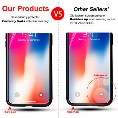 Ultra Clear Protective Screen Protector Apple iPhone XS MAX XR X 8 7 6S 5S SE 4S 4