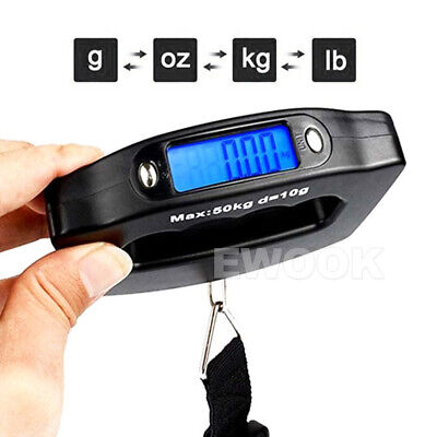 Electronic Digital Portable Scale Luggage Weight Hanging Travel 50 KG 10G AU 6