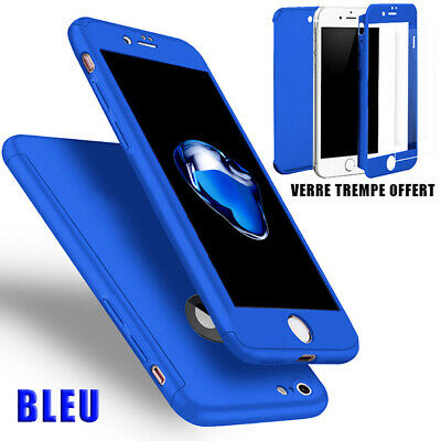 Coque Housse Total 360 Iphone 6 6S 7 8 5 Xr Xs Max Protection Vitre Verre Trempe 6
