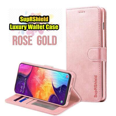 Samsung Galaxy A70 A50 A30 A20  A10e A90 Genuine Leather Wallet Flip Case Cover 8