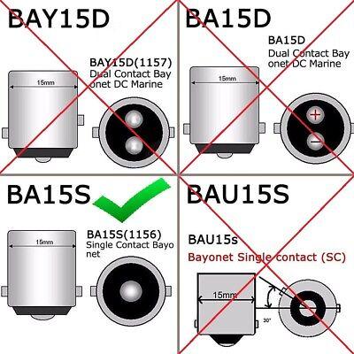 2x 1156 BA15S P21W Red LED 33SMD 5630 Car Turn Signal Blinker Lights DRL 8