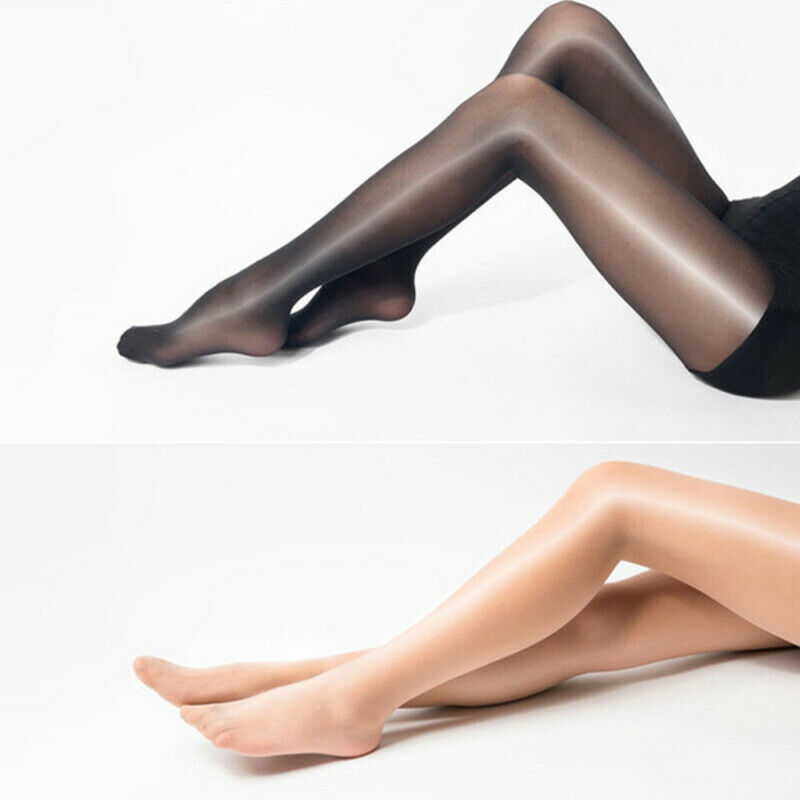 Seamless Women Pantyhose Stocking Oil Glossy Shiny Sheer Tights Crotch/Crotchles 11