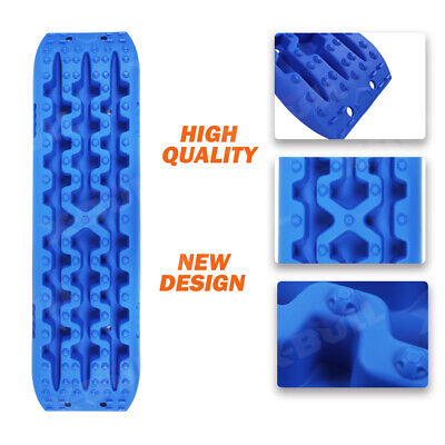 X-BULL Recovery Tracks Sand Track 10T 2pcs Offroad 4WD With Carry Bag Blue 2