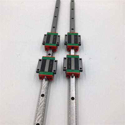 HIWIN 20mm HGR20 Linear Rail Guide L-2000mm/&2pc Rail Block HGW20CC CNC DIY Kit