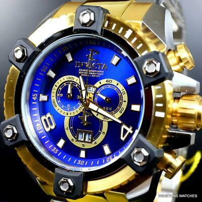 Invicta Reserve Grand Octane Arsenal 2 Tone Steel 63mm Swiss Mvt Blue Watch New 6