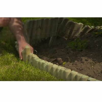 EASY FIX SPIKED Border Log Roll Lawn Pressure Treated Wood Edging Garden  Border