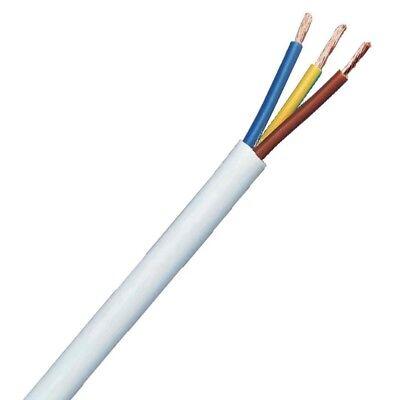 3 Core PVC Wire 0.5 0.75 1 1.5 2.5mm Flex Cable 1m 100m Black white 3183Y