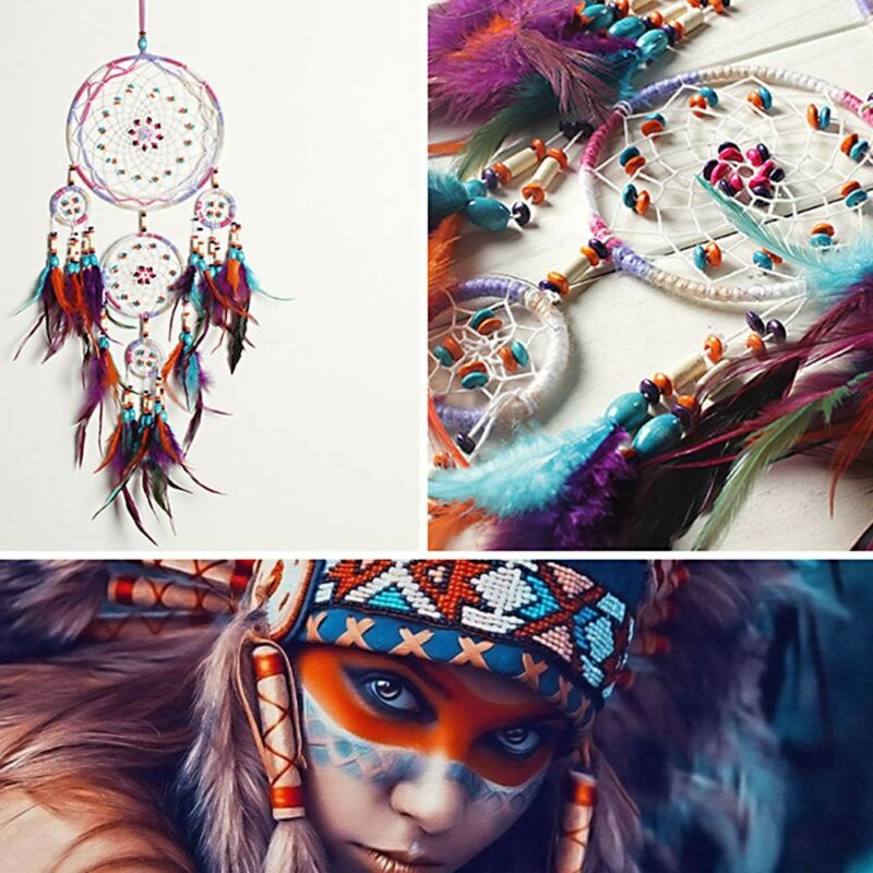 Beautiful Handmade Dream Catcher Feather Wall Hanging Home Decor Ornament Gift 8