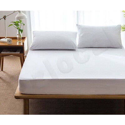 All Size Fully Fitted Terry Cotton Waterproof Mattress Protector Bed Soft Cover 3