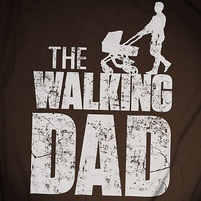 The Walking Dad T-Shirt Fun Papa Eltern Vatertag Geschenk Kinderwagen Geburt