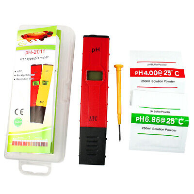 Pocket Digital pH Meter Tester Pen 0.05pH - ATC Waterproof for Pool Aquarium Lab 2