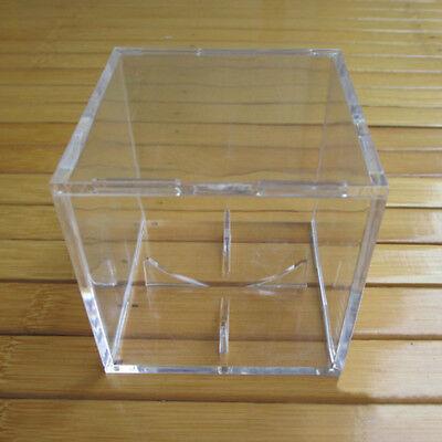 1X Acrylic Baseball Display Case Tennis Ball Care Cube Box Holder UV Protection 5
