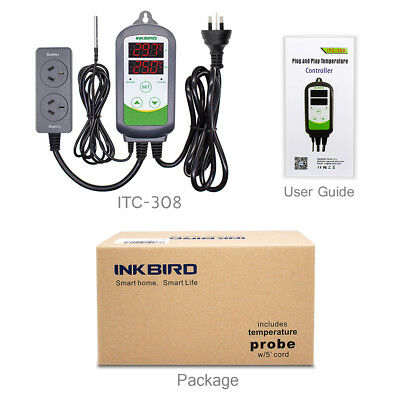 AU PLUG 240V Dual Stage ITC-308 digital Temperature Controller Pre-wired water 8