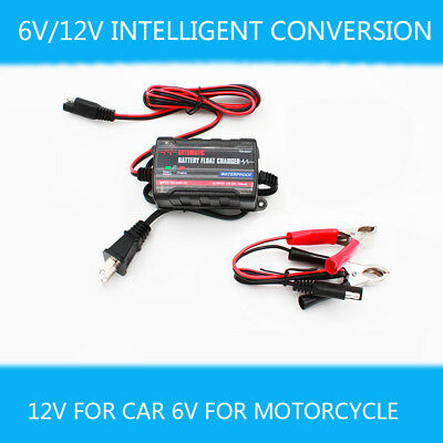 12V/6V LEAD ACID Battery Charger Car Motorcyle Boat RV Float  Charger/Maintainer