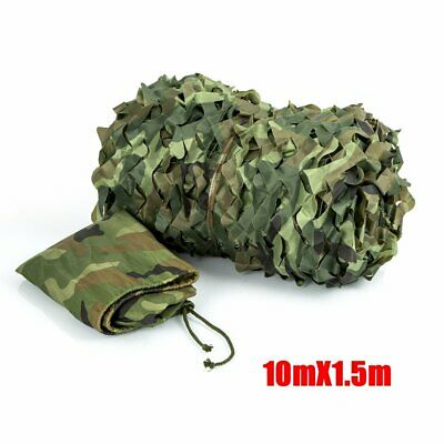 Camouflage Net Camo Hunting Shooting Hide Army Camping Woodland Netting 10Mx1.5M 6