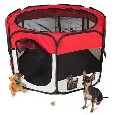 Parc à chiots chien chaton chat enclos pour chiens rouge 2