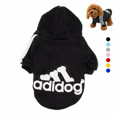 Cute Medium M Pink Adidog Hoodies For Male Small Dogs Outfits Apparel Cheap US 10