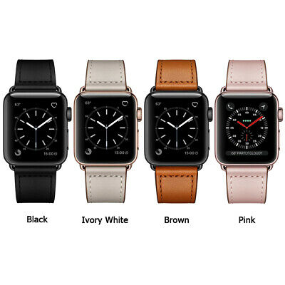 40/44mm Genuine Leather iWatch Strap for Apple Watch Band Series 4 3 2 1 38/42mm 2