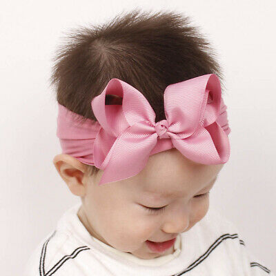 Girls Kids Baby Soft Bow Hairband Headband Sweet Turban Knot Head Wrap Cute Bow 9