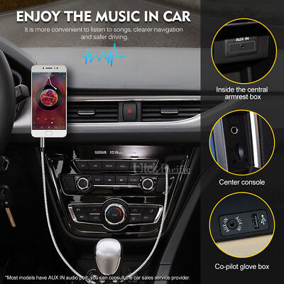 AUX Cable 3.5mm Stereo Audio Input Extension Male to Male Auxiliary Car Cord AU 5
