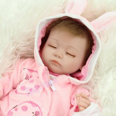"16""Lifelike Newborn Vinyl Silicone Reborn Baby Doll Handmade Birth Gift Toy Girl 7"