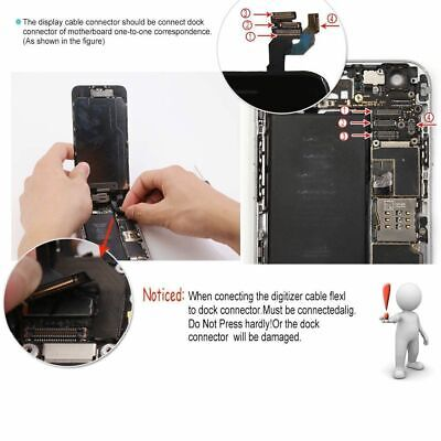 For iPhone 6S 6 7 8 Plus LCD Touch Screen Full Replacement With Button & Camera 3