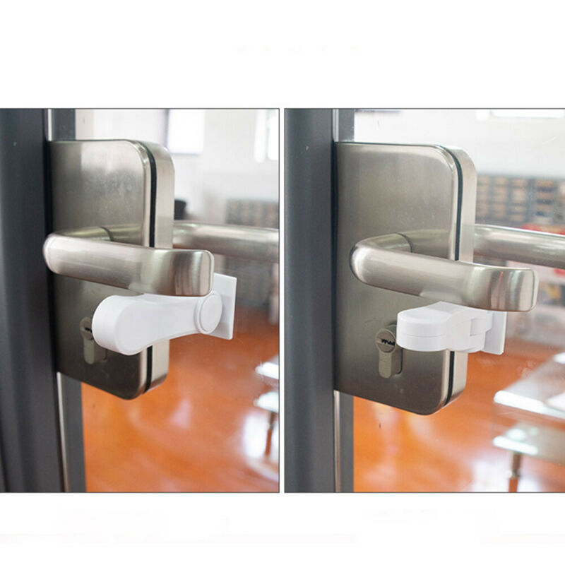 1pc Door Lever Lock Child Safety Door Handle Lock Anti-open Baby Safety Lock x 7