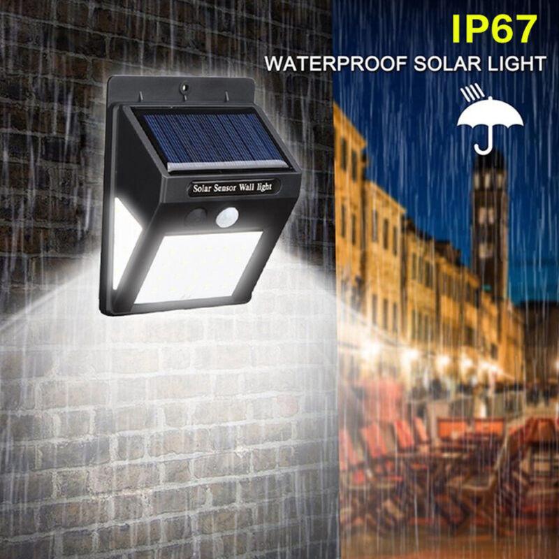 4X 40/30 LED Solar Powered PIR Motion Sensor Wall Security Lights Garden Outdoor 7
