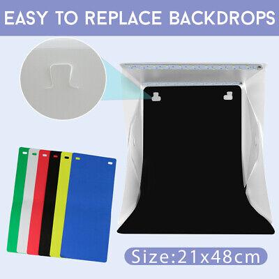 Photo Studio MINI LED Lighting Tent Kit Portable Folding Light Box 6pcs Backdrop 7