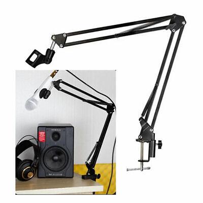 Microphone Suspension Boom Arm Desktop Stand Mic Holder Mount Bonus Pop Filter 2