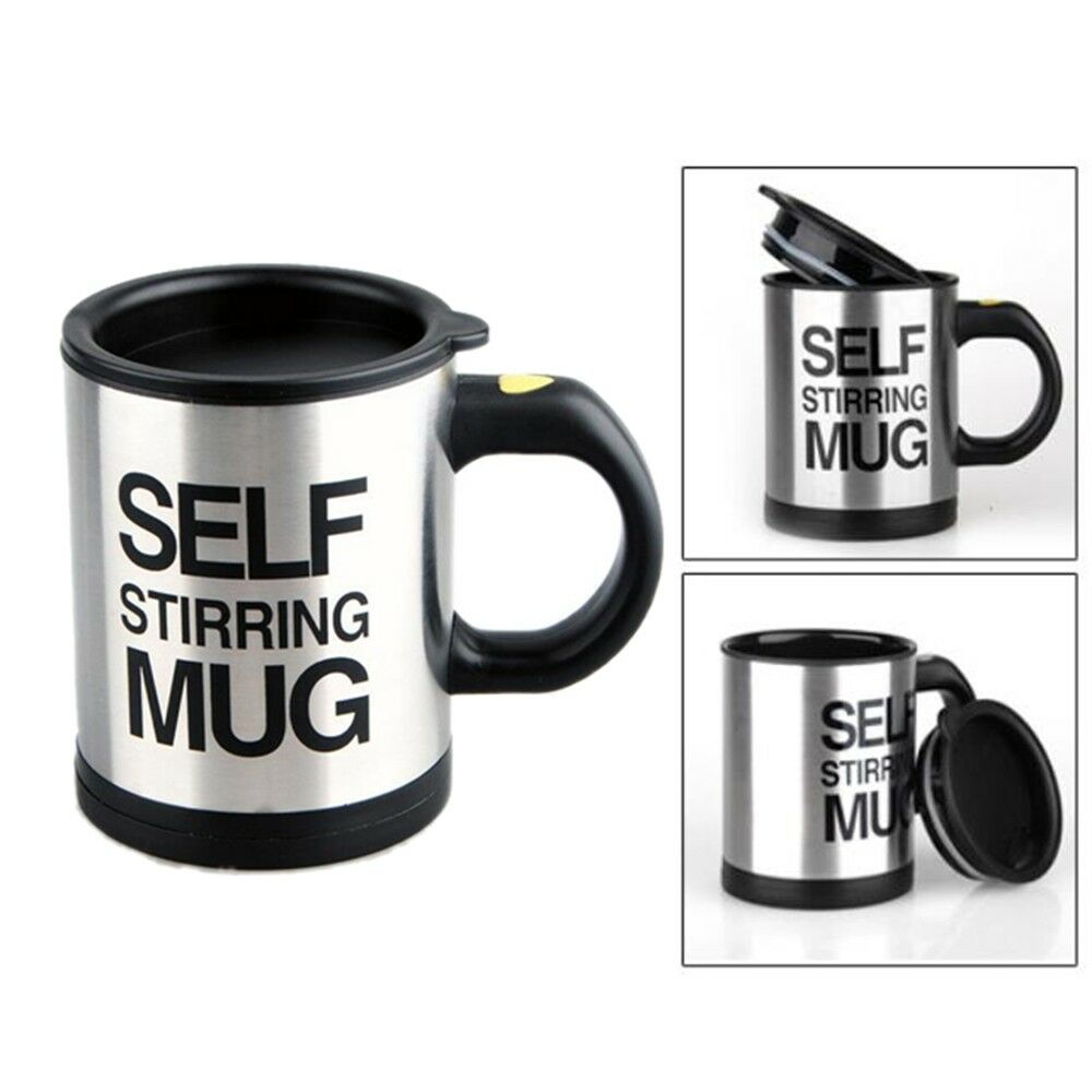 500ml Mugs Automatic Electric Lazy Self Stirring Double Insulated Cup Q1S9