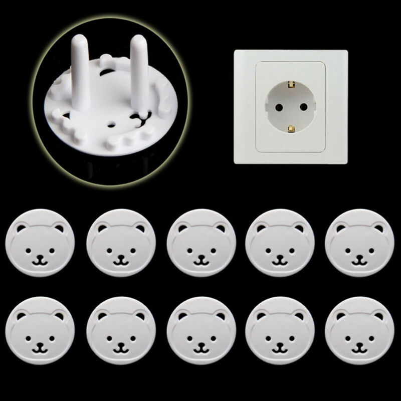 10X EU Power Socket Outlet Plug Protective Cover Baby Child Safety Protector CN 2