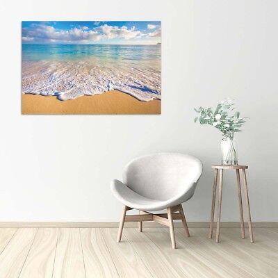 Stampa su Tela Vernice Effetto Pennellate mare spiaggia