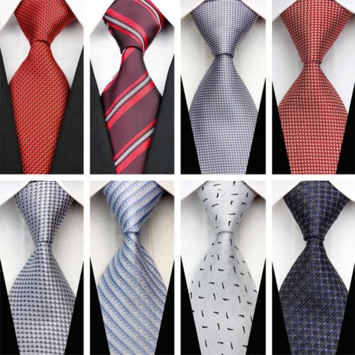 Blue Grey Black Red White Purple Wedding Stripe Plaid Dots Necktie Silk Mens Tie 3