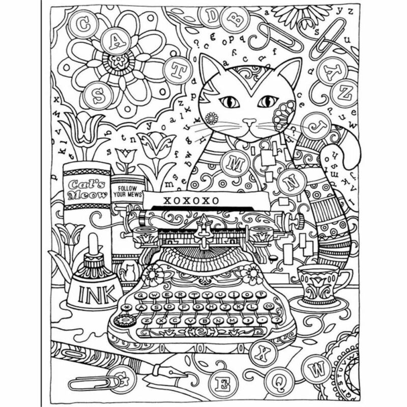 Haven Creative Cats Colouring Book Adults Stress Reliever Secret Garden Gift 5