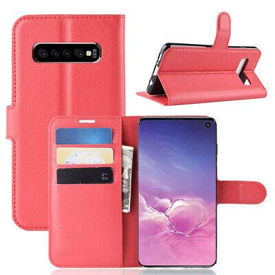Wallet Leather Flip Case Cover Samsung Galaxy S6 S7 Edge S8 S9 S10 Plus S10e 5G 4