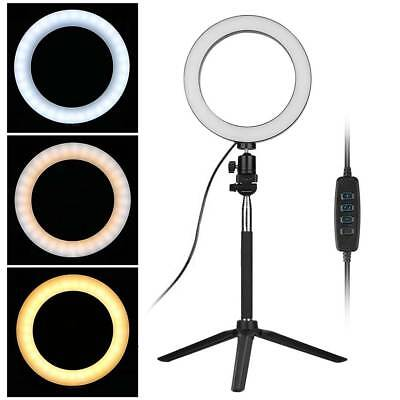 LED Studio Ring Light Photo Video Dimmable Lamp Light Tripod Selfie Camera Phone 5