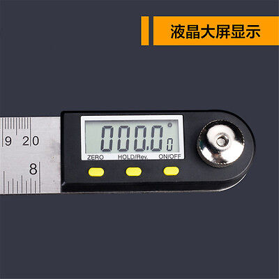 Digital Electronic Protractor Angle Finder Miter Goniometer Gauge Ruler 200mm 2