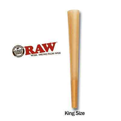 RAW Cones King Size Authentic Pre-Rolled Cones w/ Filter (5 Pack) + 5 free tubes 2