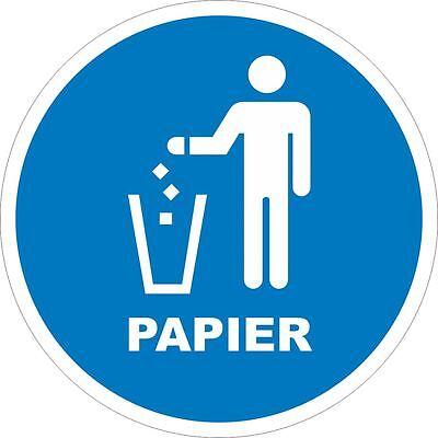 4 Stück Mülleimer Aufkleber Set Mülltonne Afball Recycling Mülltrennung 200mm