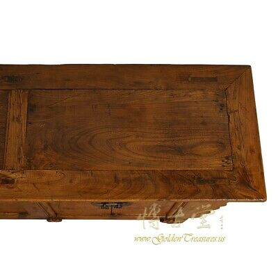 Antique Chinese Rustic Long Sideboard/Buffet Table, Credenza 9