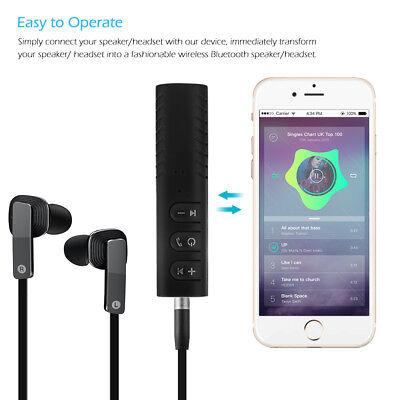 Mini Wireless Bluetooth Car Kit AUX Audio Receiver Hands free 3.5mm Jack New HOT 3