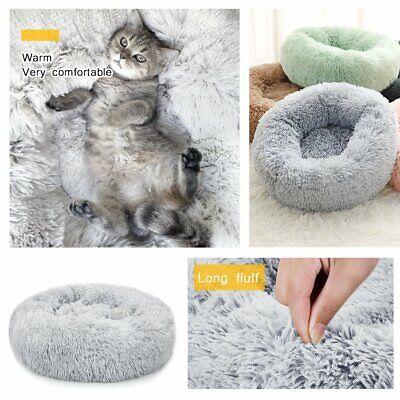 Pet Dog Cat Calming Bed Comfy Shag Warm Fluffy Bed Nest Mattress Fur Donut Pad 6