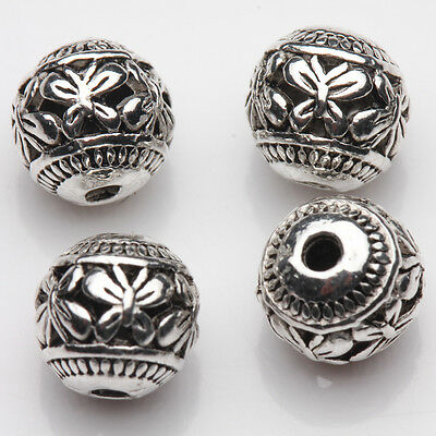 Wholesale 10/20Pcs Tibetan Silver Hollow Butterfly Charm Spacer Loose Beads 8mm 3